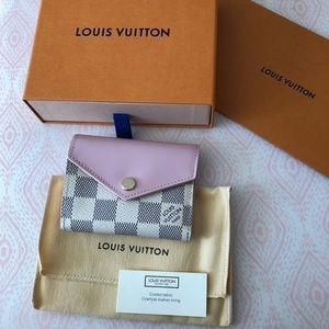 Louis Vuitton Zoe Wallet Damier Azur Eau de Rose